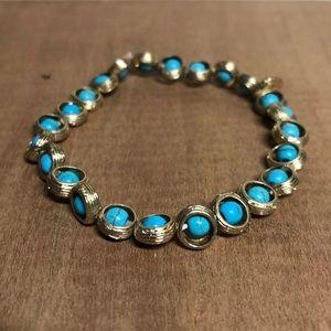 Marlyn Schiff Stretch Turquoise Bracelet